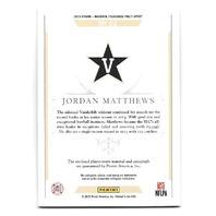 JORDAN MATTHEWS 2015 National Treasure Collegiate Materials patch auto /99 Bills