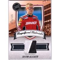 2011 Press Pass FanFare Magnificent Materials #MMJA Justin Allgaier/225 (x)