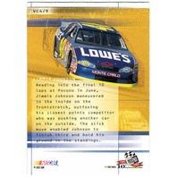 JIMMIE JOHNSON 2003 Press Pass Velocity Card Hendrick Motorsports Lowe's BV$15 (x)