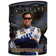 RUSTY WALLACE 1999 Press Pass Oil Cans Insert Card Die Cut NASCAR Penske Racing  (X)
