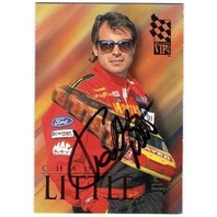 CHAD LITTLE 1995 Press Pass VIP Autograph Signature On Card Auto NASCAR BV$20  (X)