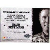 DAVID REUTIMANN 2010 Wheels Main Event Blue Autograph 21/50 Auto On Card BV$15