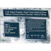 ROBERT PRESSLEY 1993 TRAKS Autograph Auto On Card Fast Freddie Fatura Collection  (x)
