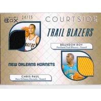 CHRIS PAUL BRANDON ROY 2007-08 07/08 Luxury Box Courtside Gold Jersey Card 24/75 (x)