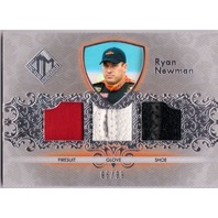 RYAN NEWMAN 2012 Total Memorabilia Triple Race Used Firesuit Glove Shoe /99 Card  (x)
