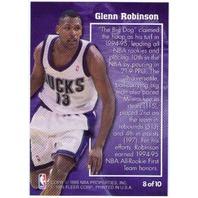 GLENN ROBINSON 1995-96 Metal Molten Metal Big Dog Card Bucks Spurs Hawks 76ers