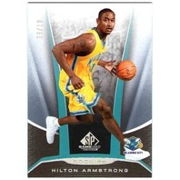 HILTON ARMSTRONG 2006-07 06/07 SP Game Used Rainbow Rookie Card 8/10 Parallel