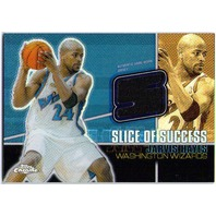 JARVIS HAYES 2004-05 Topps Chrome Slice of Success 18/25 Refractor Jersey Card