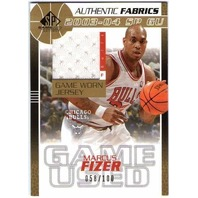 MARCUS FIZER 2003-04 03/04 SP Game Used Authentic Fabrics Gold Jersey Card /100