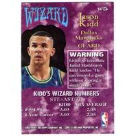 JASON KIDD 1995-96 Stadium Club Wizards #W5 Golden Bears Mavericks Nets Suns
