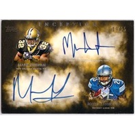MARK INGRAM MIKEL LESHOURE 2011 Topps Inception 19/25 Dual Auto On Card Rookie