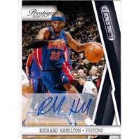 RICHARD HAMILTON 2010-11 10/11 Prestige Bonus Shots Black Autograph 20/50 Card