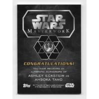 Ashley Eckstein Ahsoka Tano Topps Star Wars Masterwork Autograph card