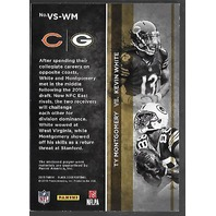 KEVIN WHITE/TY MONTGOMERY 2015 Panini Black Gold VS patch /10 3 colors