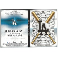 Clayton Kershaw 2016 Topps Series One Laser Relic /99 Dodgers Booklet Patch
