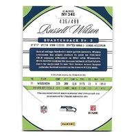 RUSSELL WILSON 2012 Panini Certified  Freshman Fabric jersey auto /499