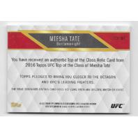 MIESHA TATE 2016 UFC Topps Bantamweight Swatch /25 green swatch