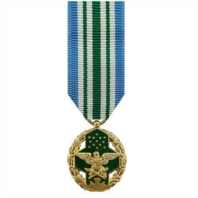 Vanguard Joint Service Commendation Military Medal Award-24K Gold Plated (Mini)
