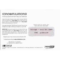 JOEY LOGANO 2009 Press Pass Premium Win Streak Victory Lane Card