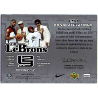 LEBRON JAMES 2006-07 UD Reserve The LeBrons Threads Wise Shirt Card LM-1