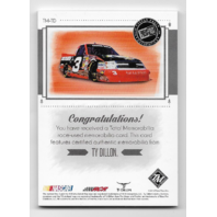 Ty Dillon NASCAR 2014 Press Pass Total Memorabilia /99 firesuit sheet metal shoe  (x)