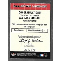 CLEMENS/MADDUX/*RANDY JOHNSON Autograph*2003 Fleer Box Score All-Star Lineup/270