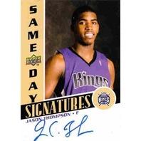 JASON THOMPSON 2008-09 Same Day Signatures Rookie Autograph Auto On Card #RPSJT