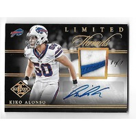 KIKO ALONSO 2014 Panini Limited Threads Nike Swoosh Logo Patch Autograph 1/1