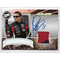 Justin Lofton NASCAR 2011 Press Pass Magnificent Materials Ref /24 glove autograph