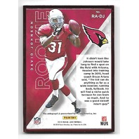 DAVID JOHNSON 2015 Panini Luxe Rookie Autographs Red Frame auto /75