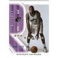 BRENDAN HAYWOOD 2001-02 SPX RC /1999 Rookie Card Dallas Mavericks North Carolina