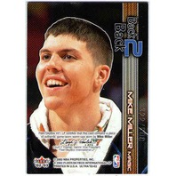 MIKE MILLER 2002-03 02/03 Fleer Ultra Back 2 Two Back Game Warm-Ups 322/500 Card
