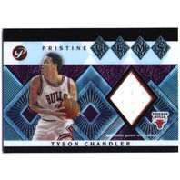 TYSON CHANDLER 2003-04 03/04 Topps Pristine Gems Relics Game Used Jersey Card