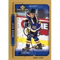JOCHEN HECHT 1999-00 Upper Deck MVP Gold Script #188 Rookie Auto Card 54/100  (x)