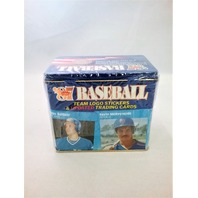 1987 Fleer Baseball Blue Tin Updated Factory Sealed Set w/ Team Logo Stickers