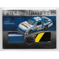 Carl Edwards NASCAR 2012 Press Pass Redline Full Throttle /10 firesuit sheet metal   (x)