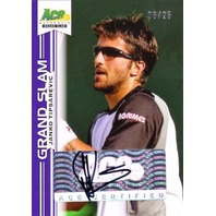 JANKO TIPSAREVIC 2013 Ace Authentic Grand Slam Purple 6/25 Tennis Auto Card   (x)