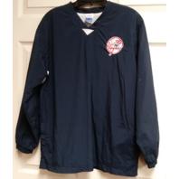 Adidas New York Yankees Navy Blue Pullover Lightweight Jacket Unsized Baseball