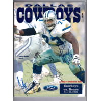 2004 Dallas Cowboys vs Bears Autographed Game Program Big $100 Bill Ticket Stub