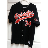 Cisco Inc Baltimore Orioles Black #34 Jersey Shirt Size L MLB Brooks Robinson