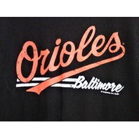 MLB Genuine Baltimore Orioles Black Graphic T-Shirt Size M Medium Baseball