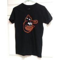 Majestic Select Baltimore Orioles Black T-Shirt Bird Logo Size L Baseball MLB