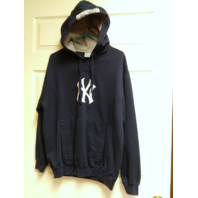 MLB Genuine New York Yankees Navy Blue Pullover Hoodie Jacket Size M Baseball