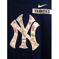 NIKE Regular Fit New York Yankees Navy Blue T-Shirt Size XL MLB Baseball