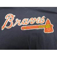 MLB Genuine Atlanta Braves Navy Blue Graphic T-Shirt Men's Size L Baseball