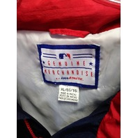 LOGO ATHLETIC  Atlanta Braves Red White Blue Lightweight Jacket Size XL MLB