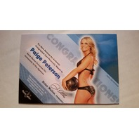 Paige Peterson 2011 Bench Warmer Limited Autograph Auto On Card #17