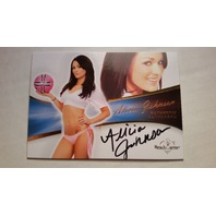 Alicia Johnson 2013 Bench Warmer Bubble Gum Autograph Auto On Card #19