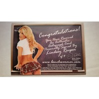 Lindsey Roeper 2008 Bench Warmer Limited School Girl Autograph Auto On Card #7