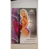 Katie Lohmann 2012 Bench Warmer Vault Autograph Auto On Card #8 Playboy